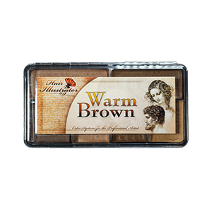 HAIR ILLUSTRATOR WARM BROWN
